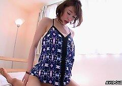 Japanese brunette, Remon Mizuno got pleased, uncensored