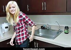 ShesNew Skinny blonde teen Chloe Foster POV homemade se