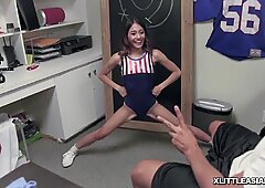 This is just WOW! lil' asian teen Jasmine Grey's tight cunt plowed by phat cock!