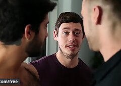 Three Hunks Get Fucked Hard Together After They Just Met - Men.com