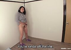 Subtitled Japanese bottomless Pee Desperation in HD