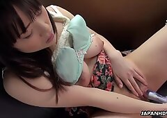 Oriental plus-size, Mikoto Mochida likes to have car hook-up, uncensored