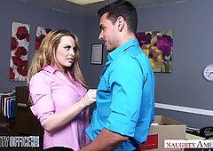 Big tits employee Corrina Blake goes out with a bang - Naughty America