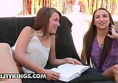 Reality Kings - Cute lesbian Celeste Star teaches Malena Morgan how to squi