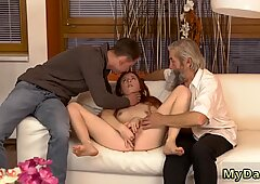 Old man eating hairy pussy and granny hd Unexpected practice with an older gentleman