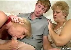 Two Milfs Tagteam Lucky Guys Big Package