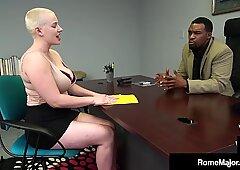 Thick Buzz Cut Beauty Riley Nixon Busts Big Black Nut Rome Major!