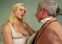 Hot hooker Anikka Albrite fucks her favourite wild west client