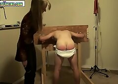 nappy guy Plugged, smacked and Fucked by Strapon