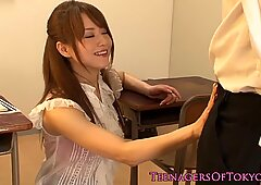 Queening japanese teen pounded in classroom