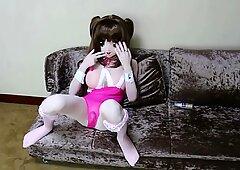 kigurumi pink swimsuit