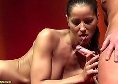 extreme deepthroat on public venus stage