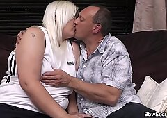 She leaves and husband cheating with blonde bbw