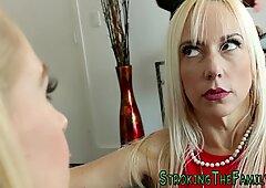 Blonde stepteen facial