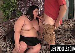 Jeffs Models - Charming Brunette BBW Juicy Jazmynne Blowjob Compilation 1