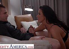 Naughty America Reagan Foxx fucks fan who wants a naught step mom roleplay