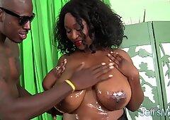Black plumper Marie Leone Big Black Boob Sex