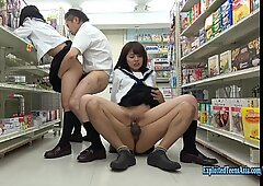 Jav college girls Satomi And Asuka bang In convenience Store Uncensored