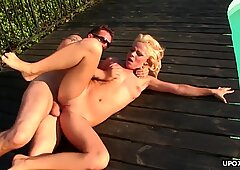 Insatiable blonde, Sunny got her tight ass hole ravaged