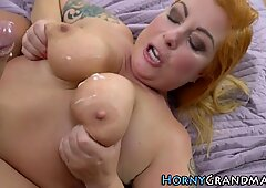 Busty granny gets tasted