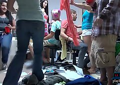 nasty romp soiree with horny college teens in a dorm room