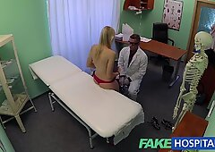 FakeHospital Successful consultation as hot blonde moans