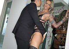 Brooke Brand takes a massive English cock!