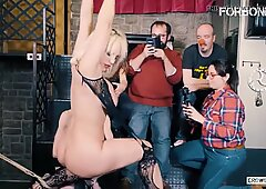 FORBONDAGE Public Punish From Nasty Daddy - Blondie Fesser