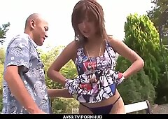 Premium outdoor Japan shag with busty Aika