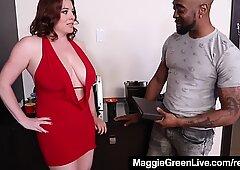 Full Figured Blonde Maggie Green Fucks Boss For A Raise!