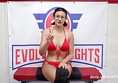 Busty Babes Penny Barber vs Carissa Montgomery in Lesbian Sex Wrestling