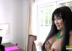 Miss pinay at the interview has sex with Lacey Starr