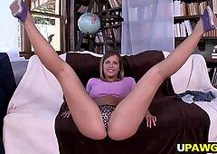 Fresh amateur white girl Keisha Grey fat ass