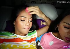 Two Ladyboys Phatida And Aemy Kiss And Suck Each Other