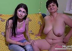 OmaHunteR Horny Mature Brigita Toying Footage