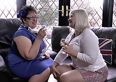 Two bigger British matures fuck a younger skinny guy