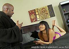 Angelina Chung Takes A ginormous black man rod