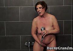 Showering grandma rides