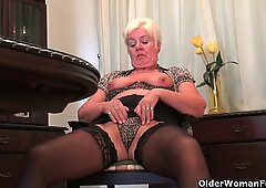 Grandma's pussy needs relief from the tingling