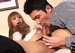 Trans asian babe fucked after dicksucking