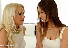 Taylor Sands and Anastasia towheaded in voluptuous lesbian gig