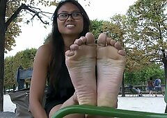 splendid French Cambodian feet Soles foot worship