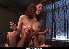 Ann Yabuki shows no mercy to these big Japanese dicks - More at 69avs.com