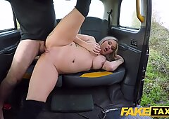 fake Taxi Festive taxi fuck and facial finish for chesty ash-blonde