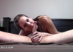Azzurra sticking her jaws in sixty nine