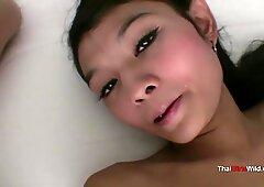 Sweet faced Thai creampie