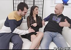 Great mature wife with enormous breasts fucks a good cock