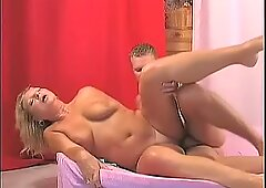 Milf babe Jane gets her snatch plowed hard and earns a hot load of cum