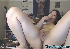Asian Teen Fucks And Gags On Giant BBC Dildo