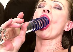 Granny anal torn up in gonzo bi-racial threesome